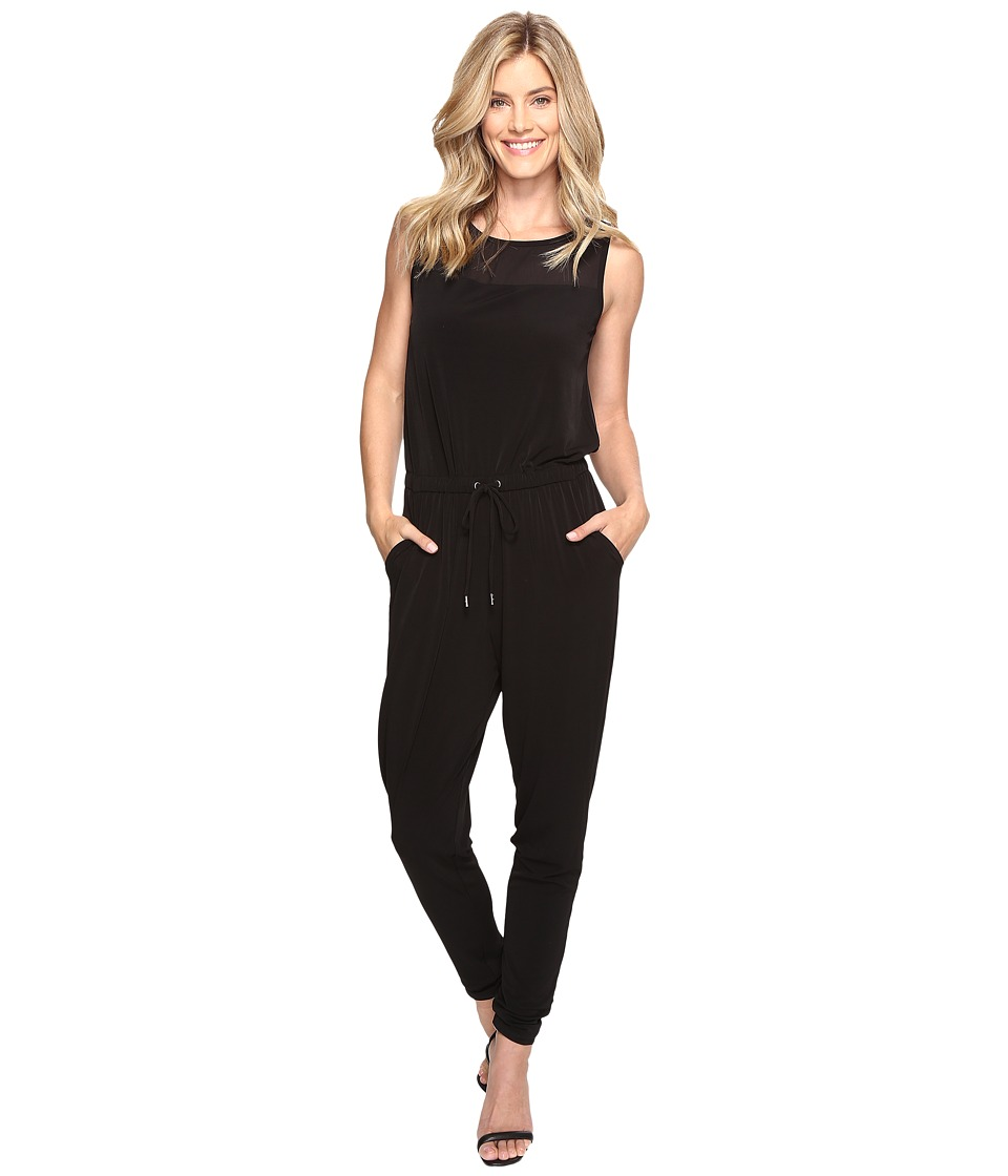 MICHAEL Michael Kors - Drawstring Tapered Leg Jumpsuit (Black) Women's Jumpsuit & Rompers One Piece