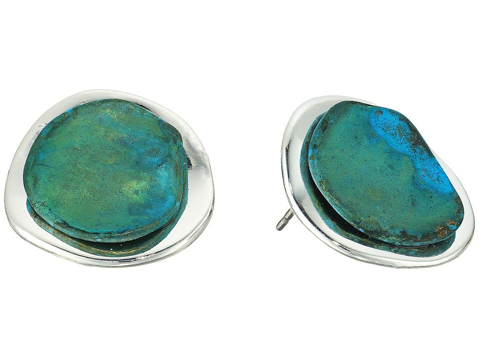 Robert Lee Morris - Patina Sculptural Button Stud Earrings (Patina) Earring