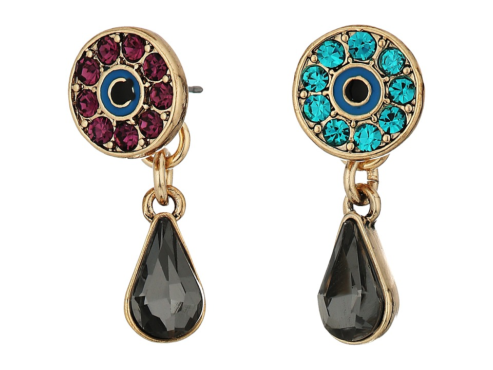 Betsey Johnson - Eye Stone Earrings Jacket (Multi) Earring