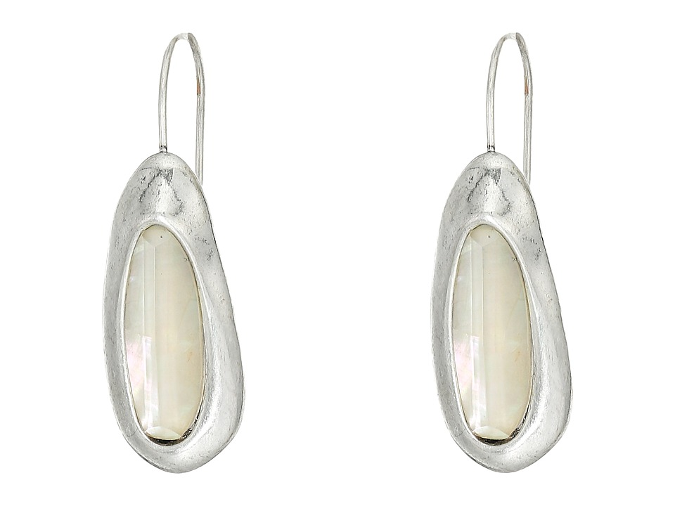 Robert Lee Morris - Oval Sculptural Stone Drop Earrings (Mother-of-Pearl) Earring