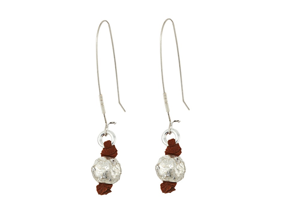 Robert Lee Morris - Sculptural Bead Long Drop Earrings (Silver) Earring