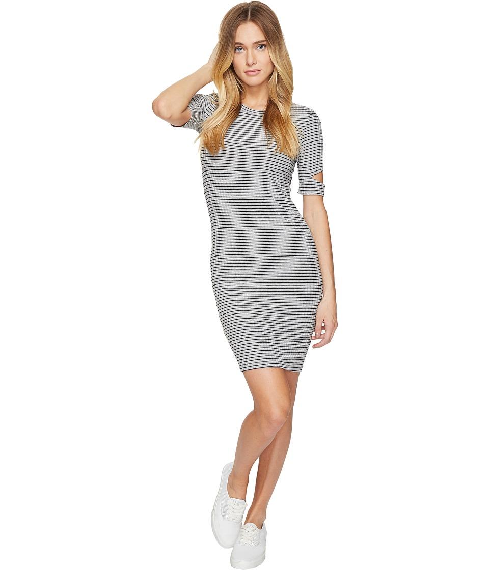 LNA - Mini Esso Dress (Grey/Black Stripe) Women's Dress