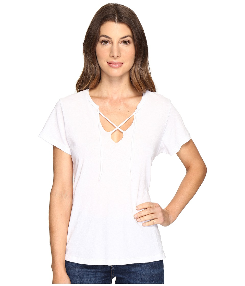 LNA - Raw Tie Tee (White) Women's T Shirt