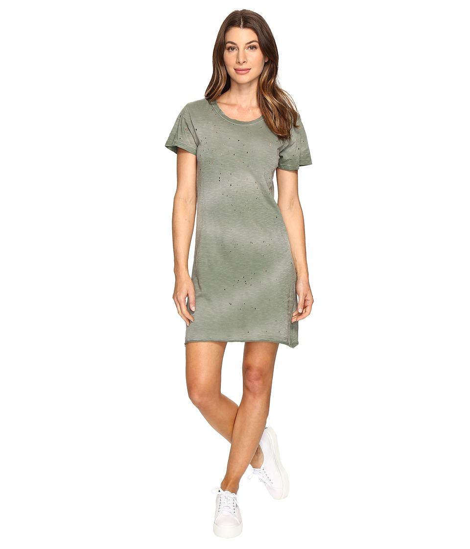 LNA - Destroyed Tee Dress (Military Green Potassium) Women's Dress