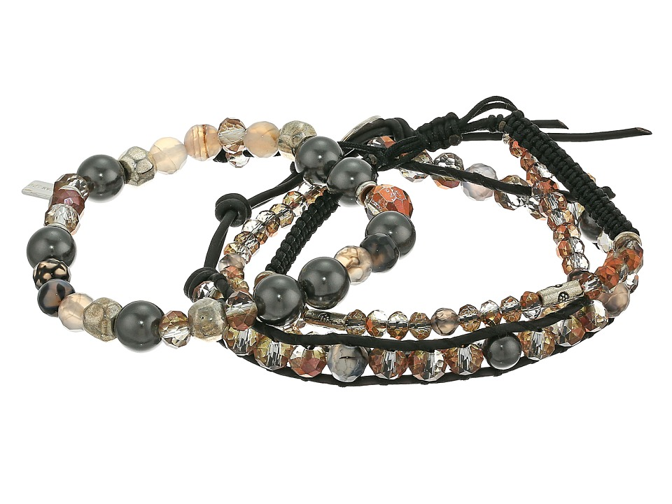 Chan Luu - Set of 3 Crystal Bracelets (Copper Mix) Bracelet