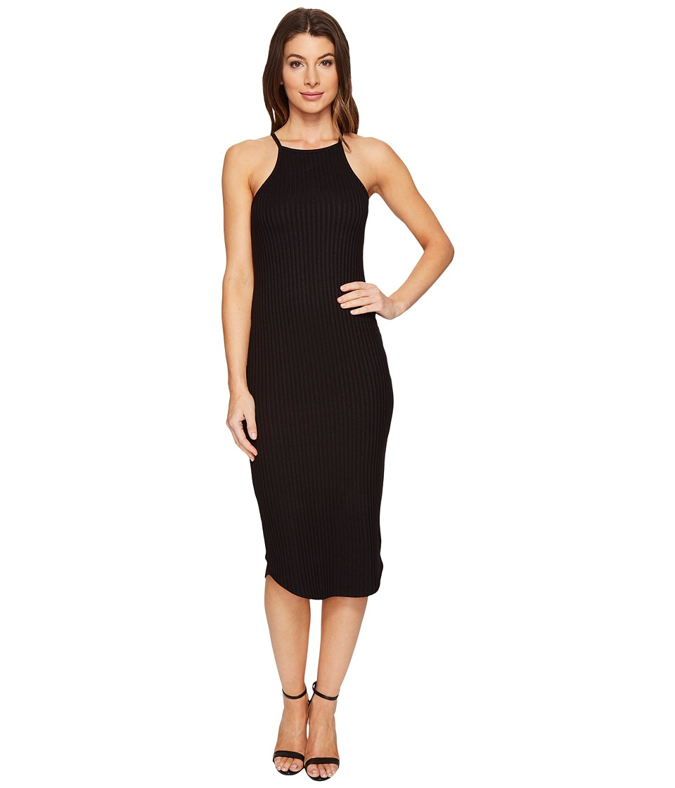 LNA - Square Bib Dress (Black) Women's Dress