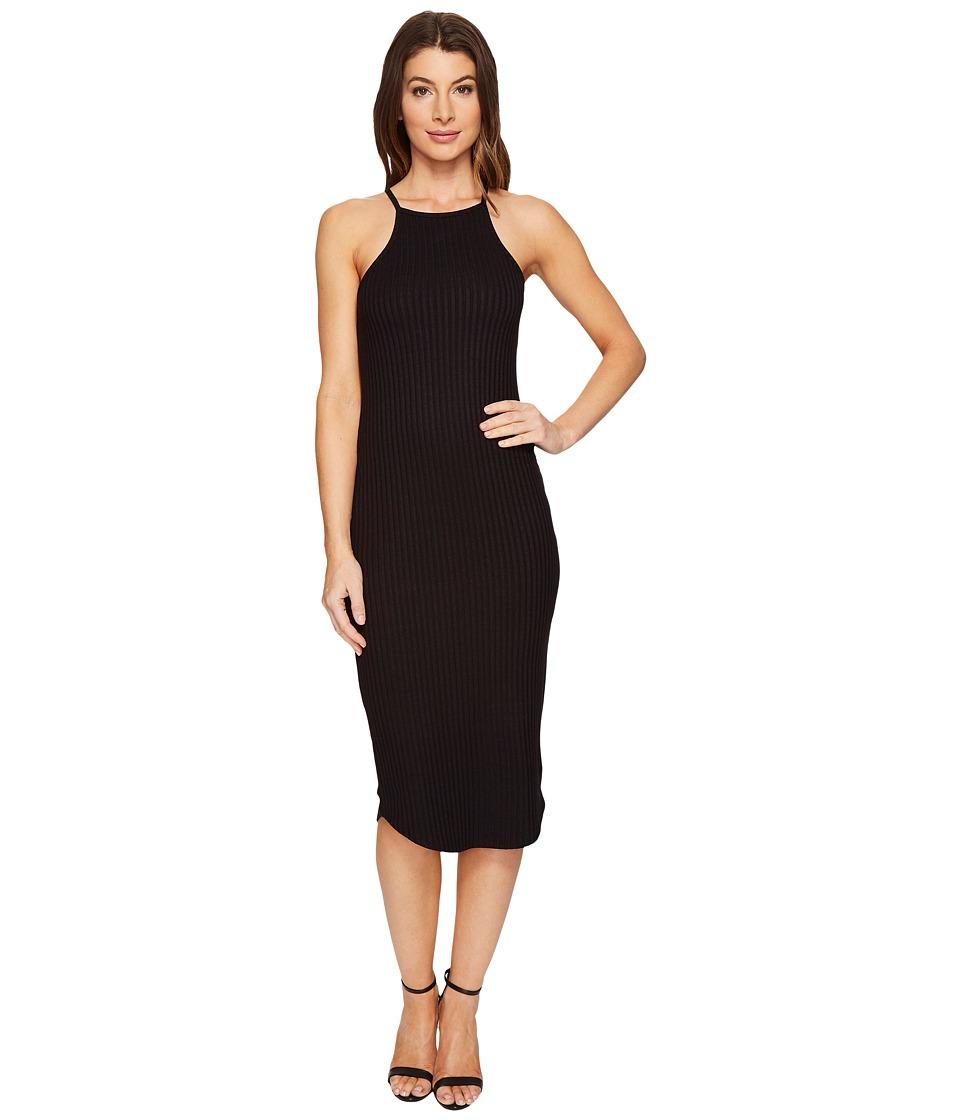LNA - Square Bib Dress (Black) Women's Dress