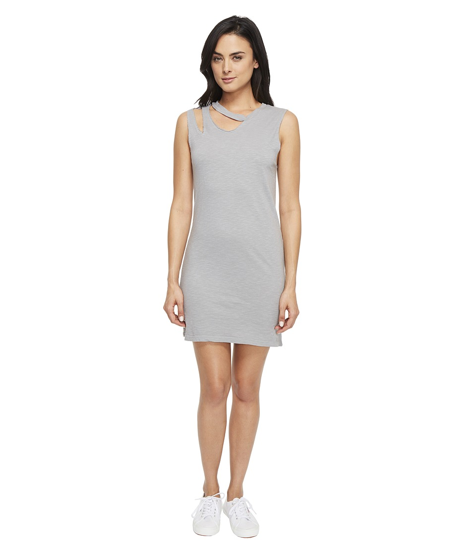 LNA Double Cut Tank Dress (Faded Grey) Women