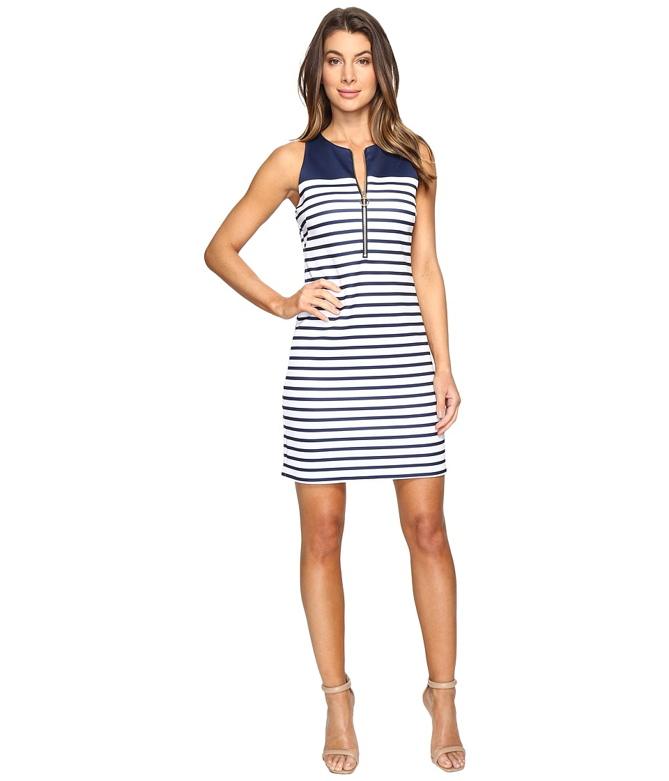 MICHAEL Michael Kors Norwood Neoprene Dress (True Navy) Women