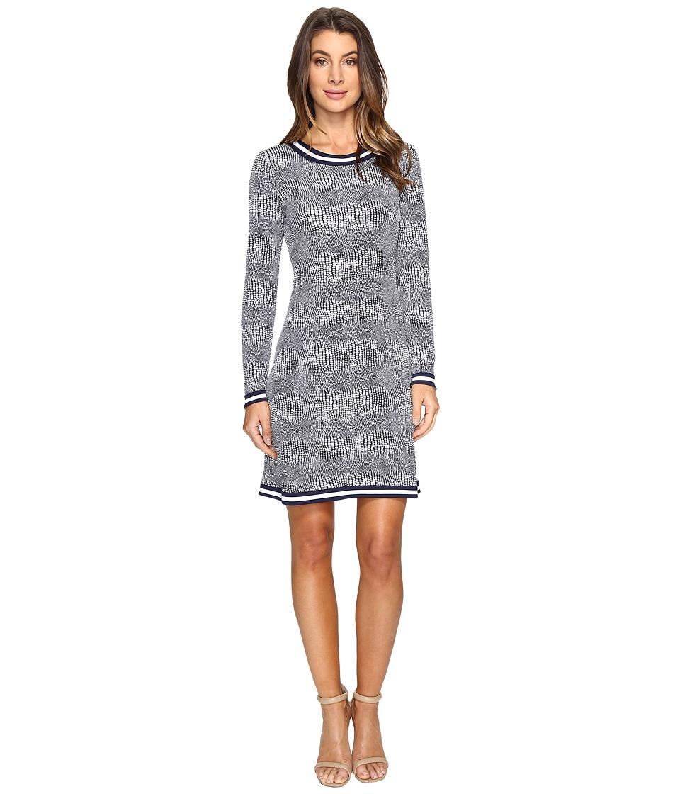 MICHAEL Michael Kors - Zephyr Border Dress (True Navy) Women's Dress