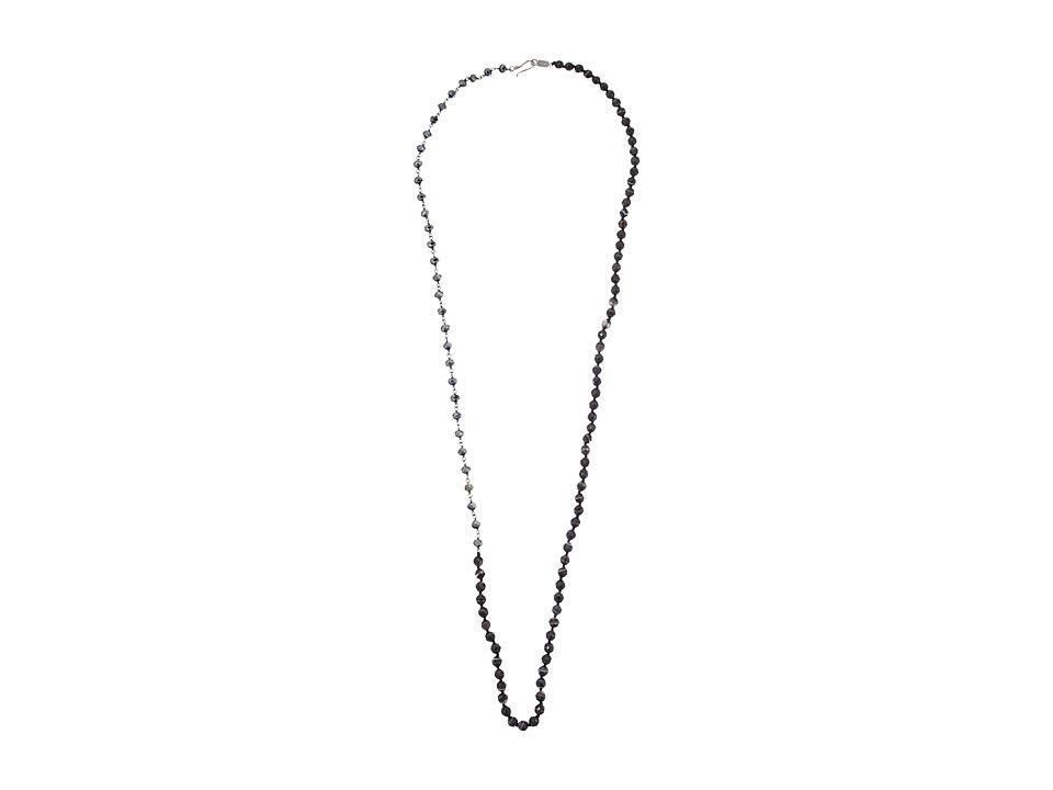 Chan Luu - 36 Labradorite and Crystal Layering Necklace (Black Sardonyx Mix) Necklace