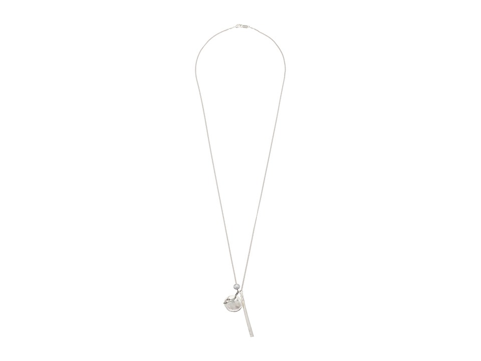 Chan Luu - 33 Necklace with Pearl Charm (Grey) Necklace