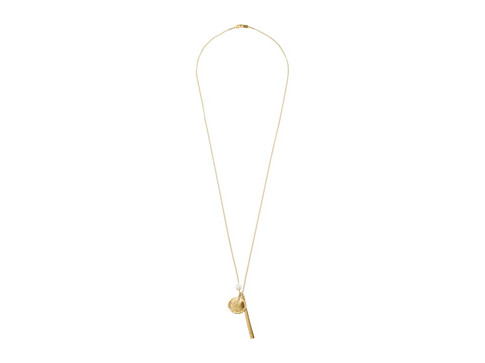 Chan Luu - 33 Necklace with Pearl Charm (White) Necklace