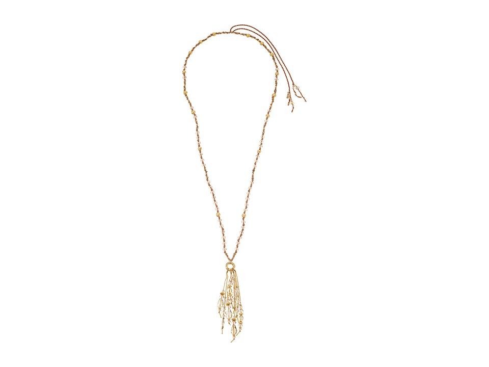 Chan Luu - Adjustable Crystal Fringe Necklace (Sunflower) Necklace