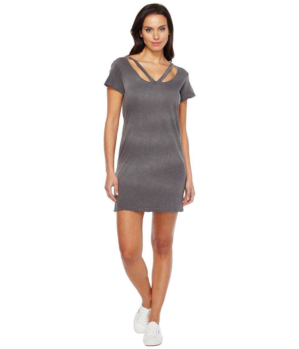 LNA - Double Fallon Tee Dress (Charcoal Potassium) Women's Dress