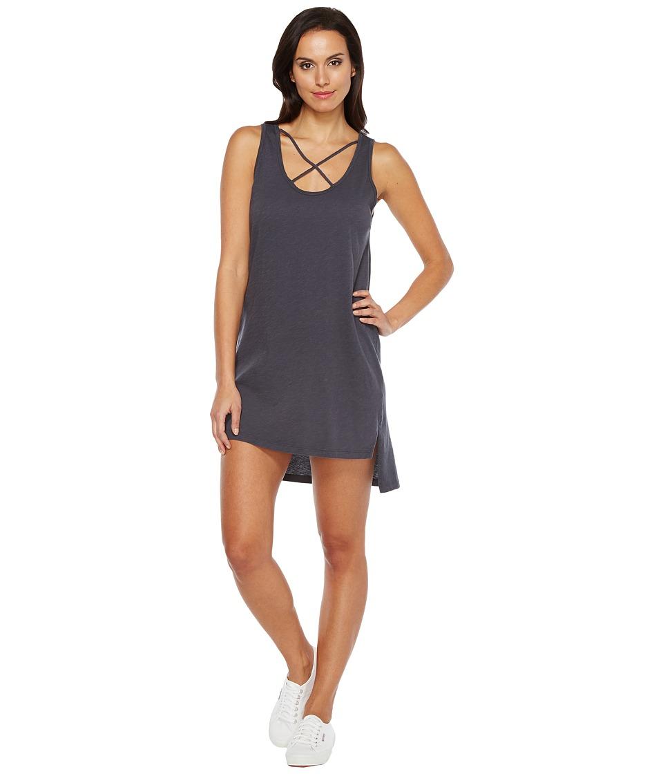 LNA - Cross Strap Tank Dress (Faded Grey) Women's Dress