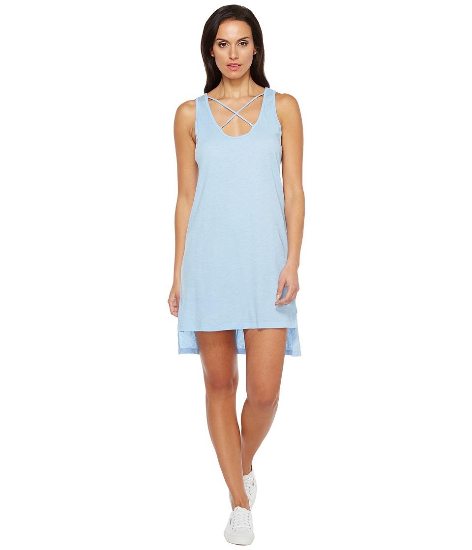 LNA - Cross Strap Tank Dress (Vintage Blue) Women's Dress