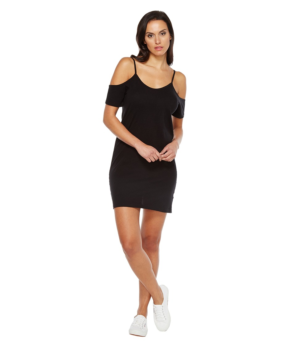 LNA Off the Shoulder Tee Dress (Black) Women