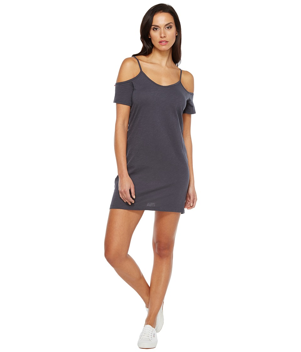 LNA - Off the Shoulder Tee Dress (Faded Grey) Women's Dress