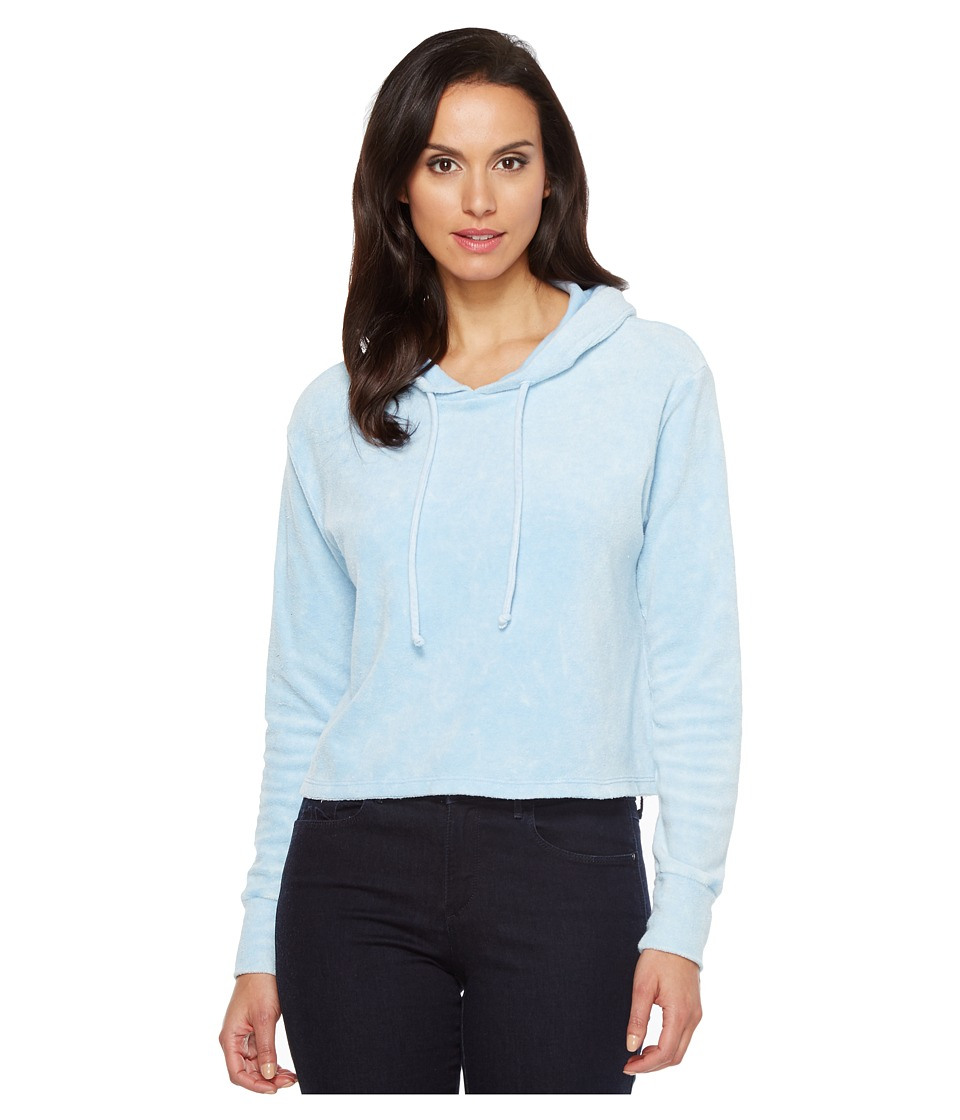 LNA - Raw Hoodie (Baby Vintage Blue) Women's Clothing
