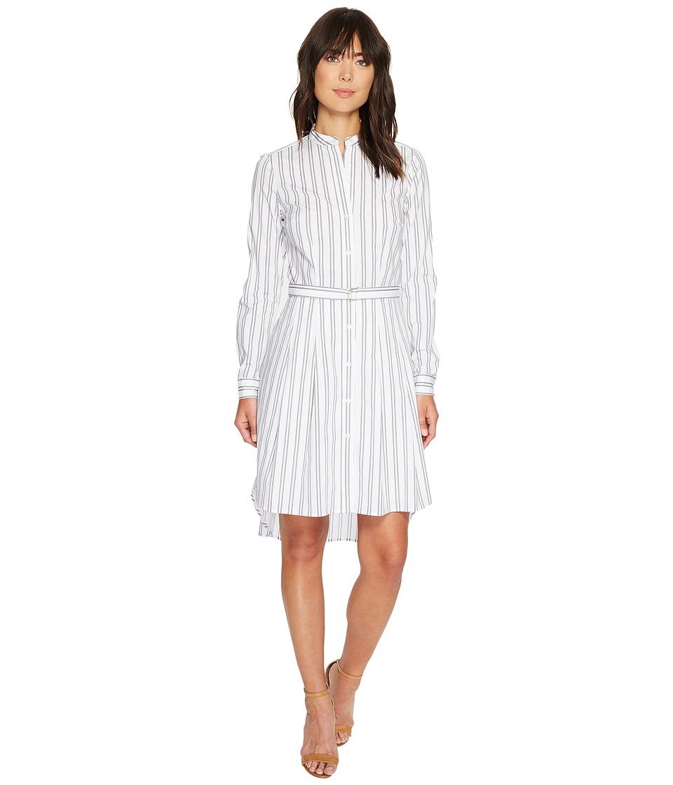 MICHAEL Michael Kors - Bengal Stripe High-Low Dress (White) Women's Dress