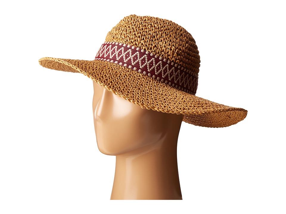 Echo Design - Crochet Panama Beach Hat (Natural) Caps