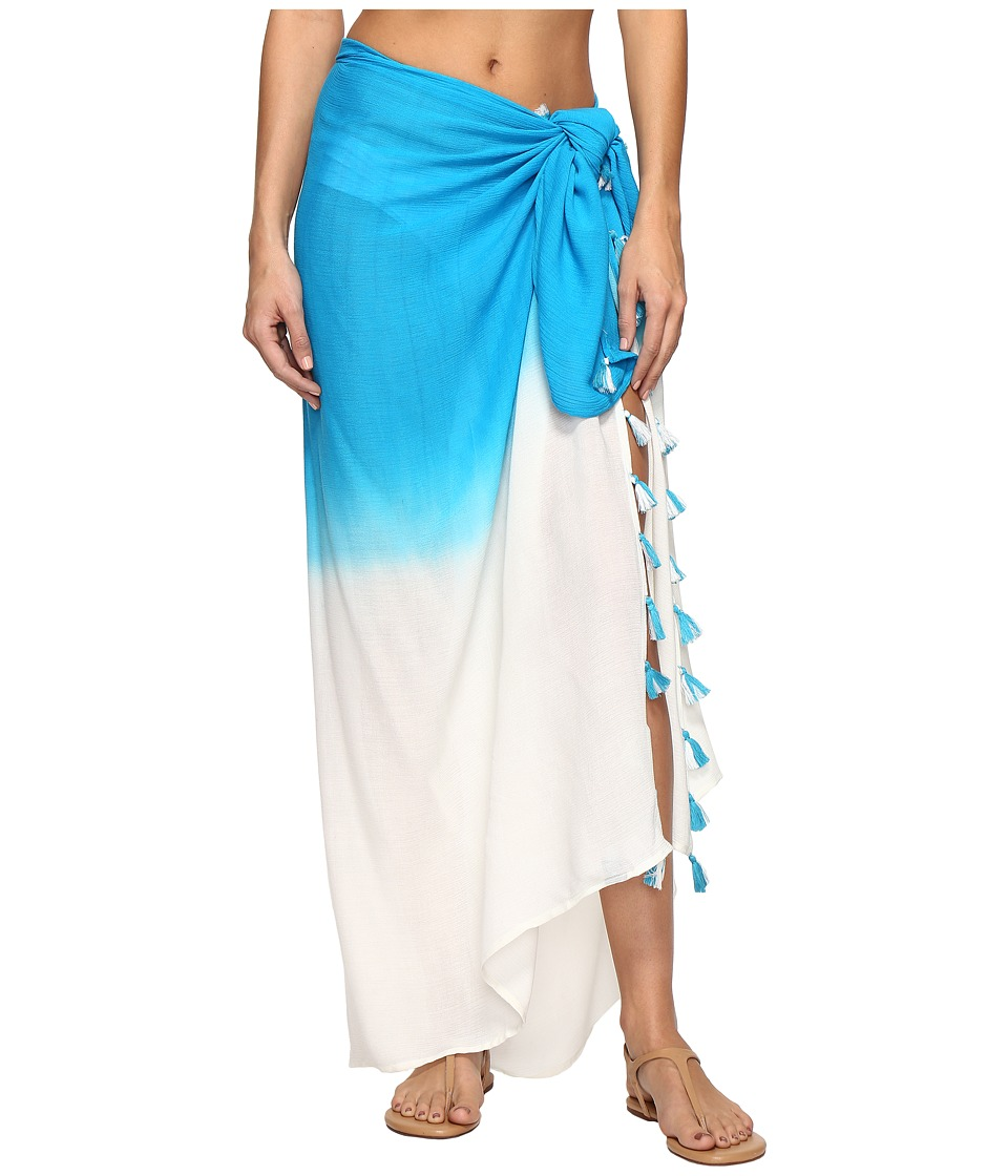 Echo Design - Ombre Tassel Pareo Cover-Up (Riviera Blue) Women's Swimwear