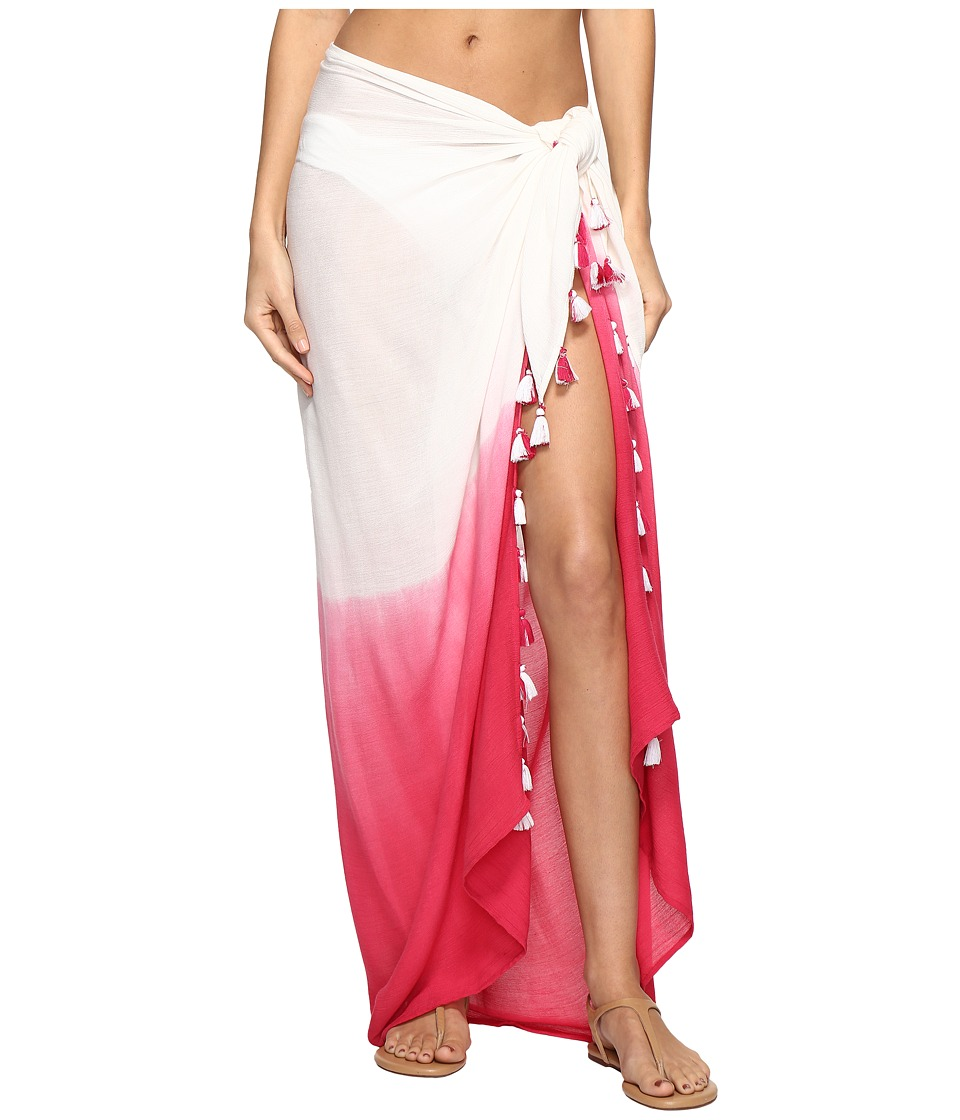 Echo Design - Ombre Tassel Pareo Cover-Up (Hibiscus Pink) Women's Swimwear