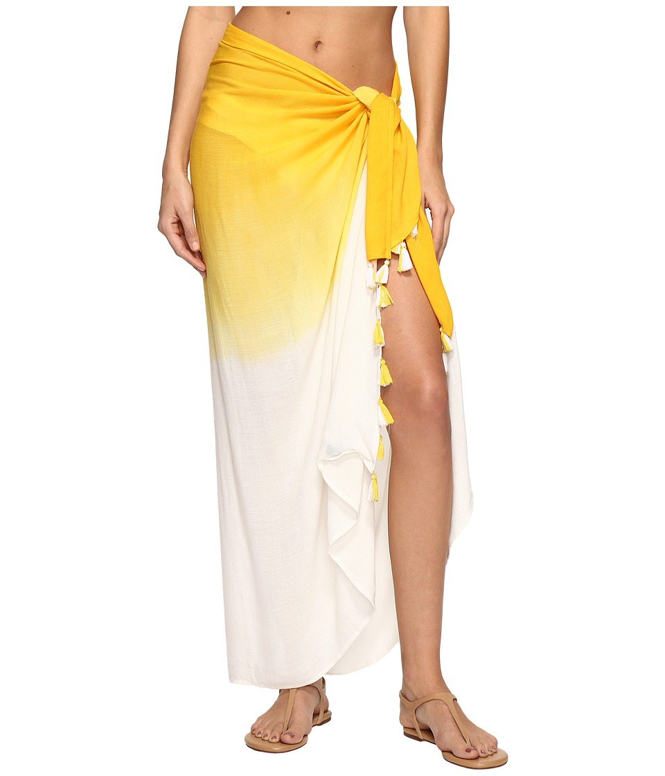 Echo Design - Ombre Tassel Pareo Cover-Up (Marigold) Women's Swimwear
