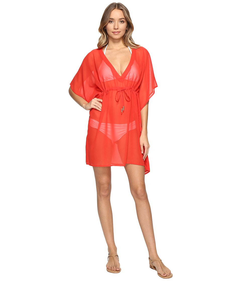 Echo Design - Solid Silky Butterfly Cover-Up (Rouge) Women's Swimwear