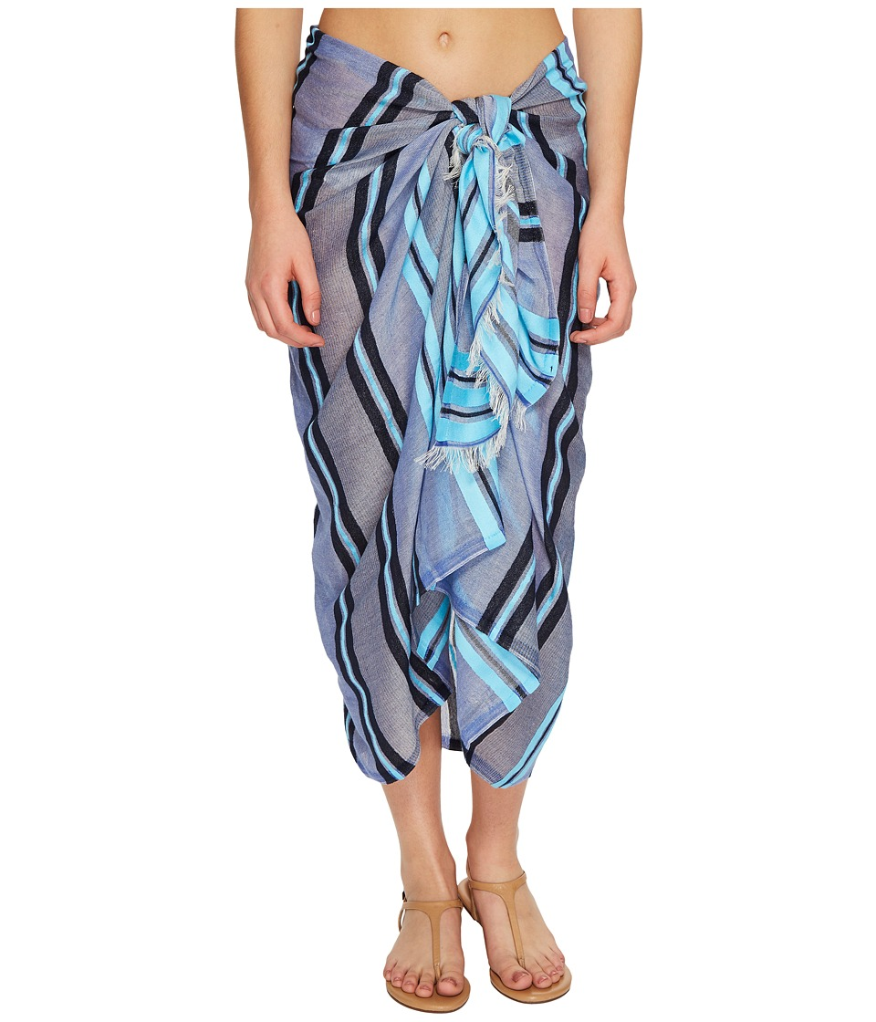 Echo Design - Sheer Stripe Pareo Cover-Up (Brilliant Blue) Women's Swimwear