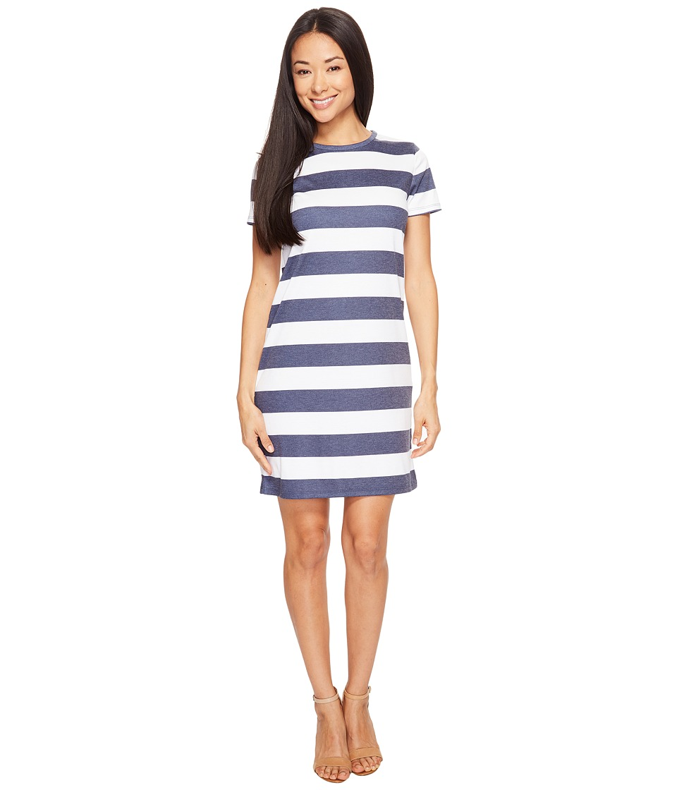 MICHAEL Michael Kors - Rugby Stripe T-Shirt Dress (True Navy/White) Women's Dress