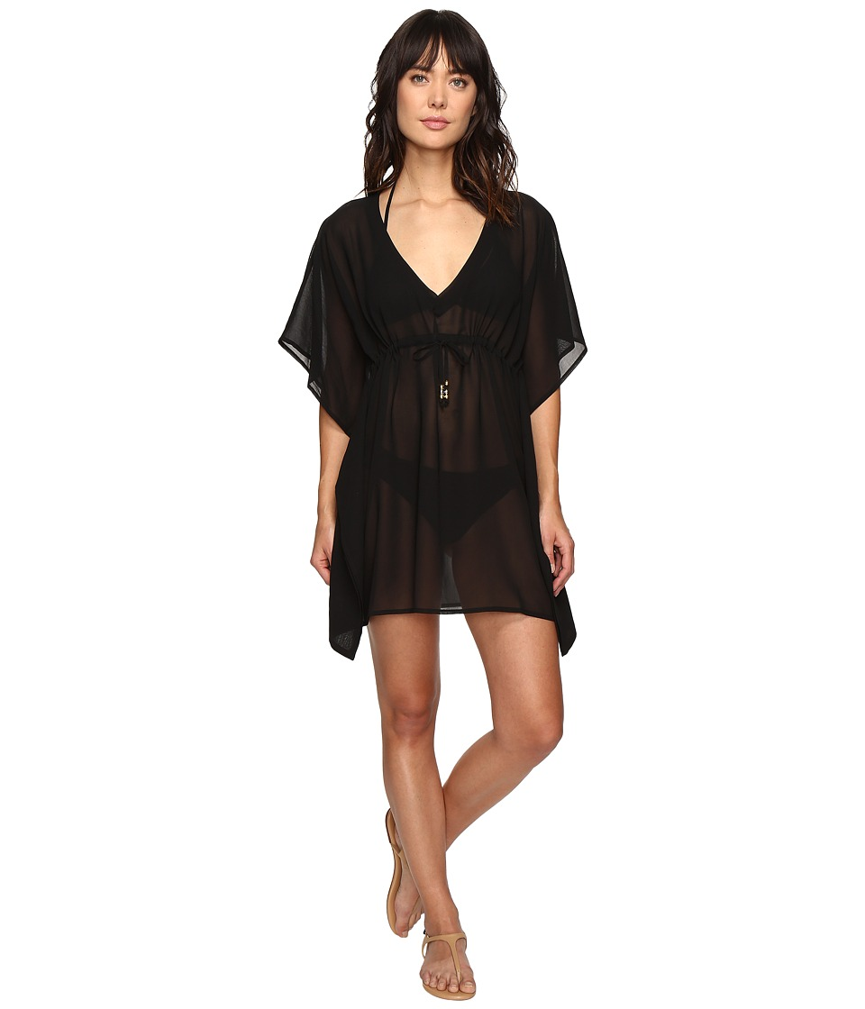 Echo Design Solid Silky Butterfly Cover-Up (Black) Women