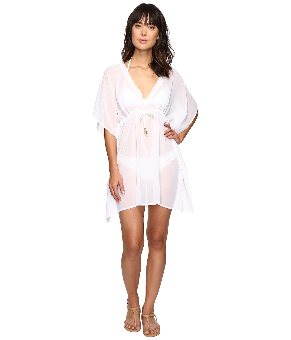 Echo Design Solid Silky Butterfly Cover-Up (White) Women