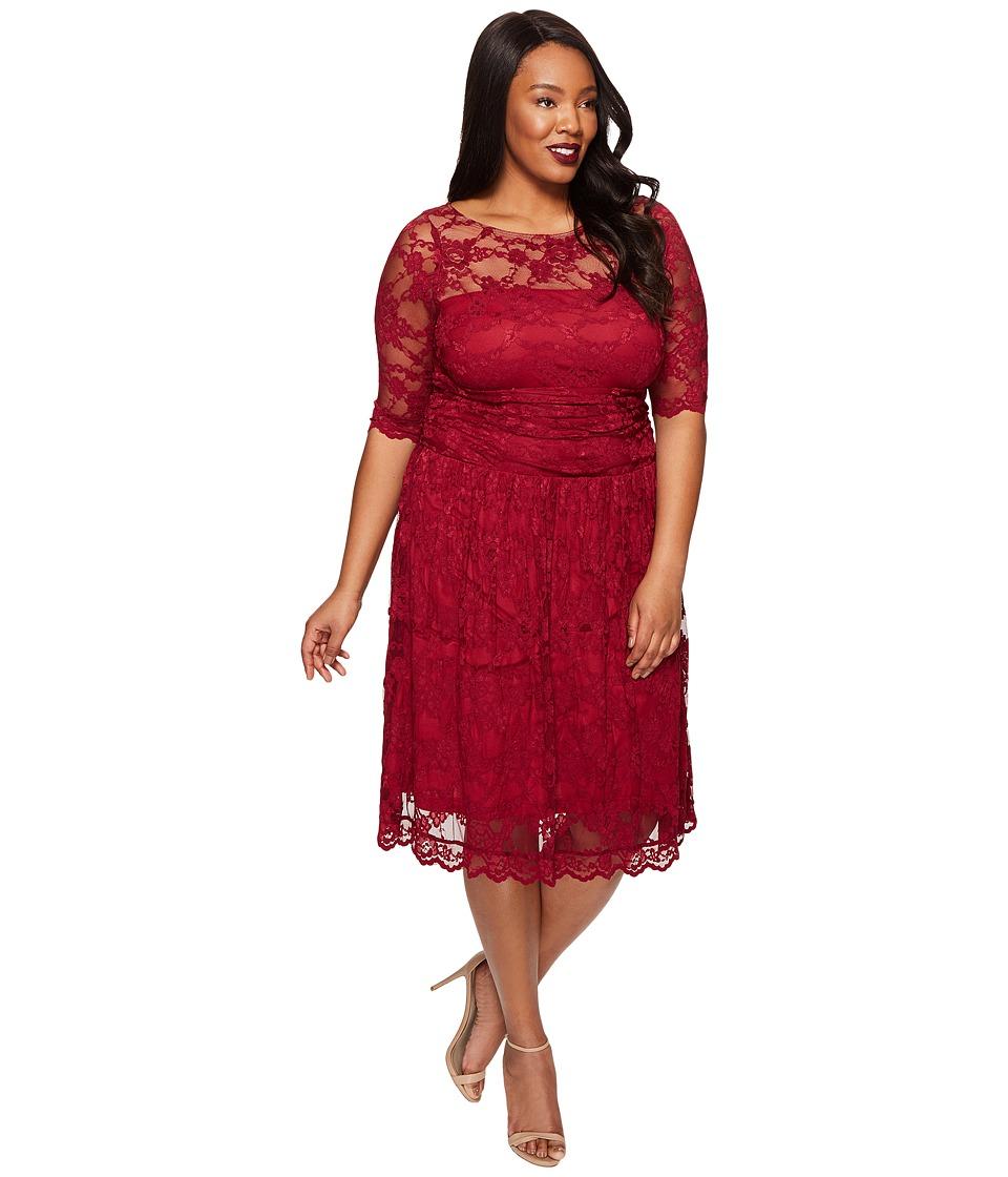 Kiyonna Luna Lace Dress (Rose Wine) Women