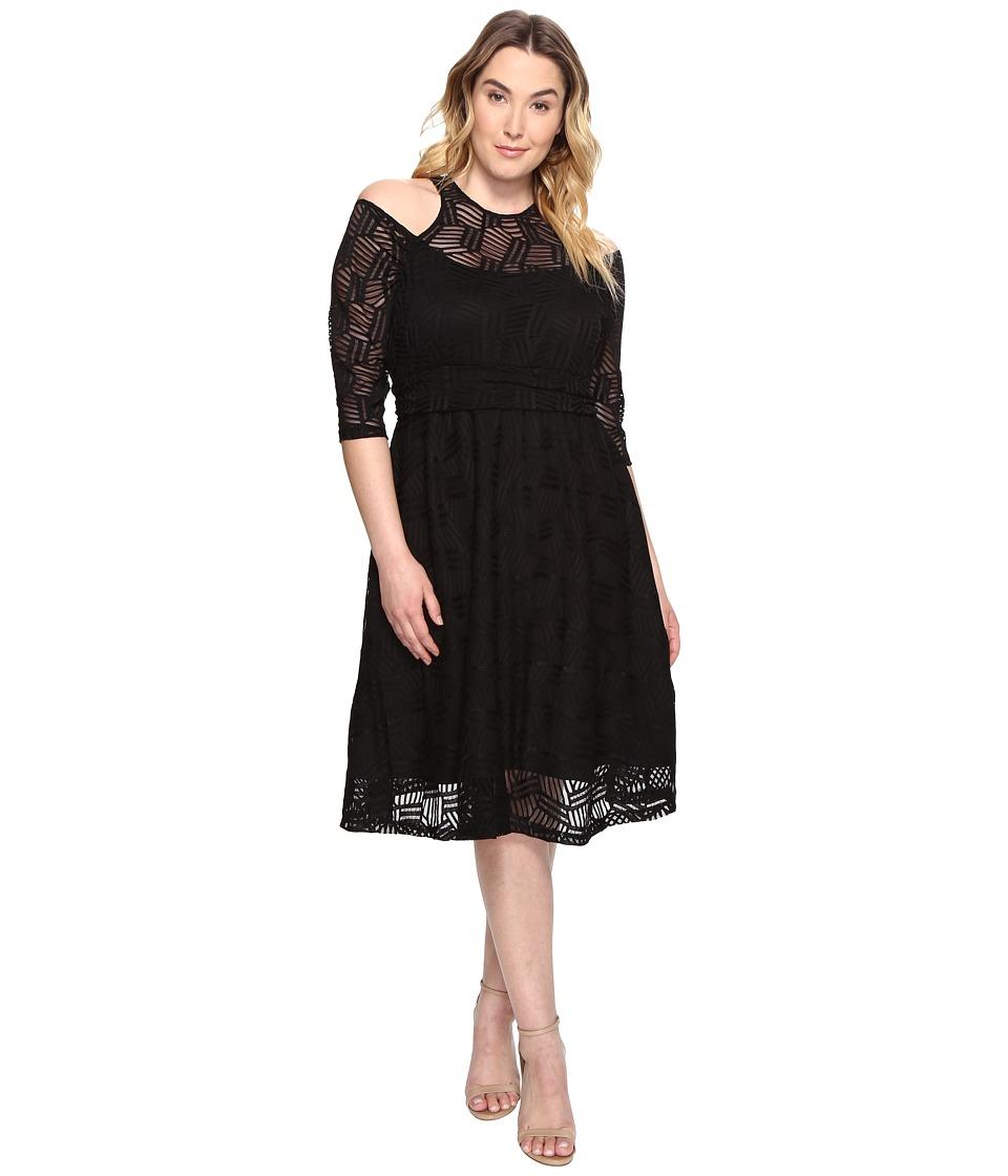 Kiyonna Audrey Lace Dress (Black Noir) Women