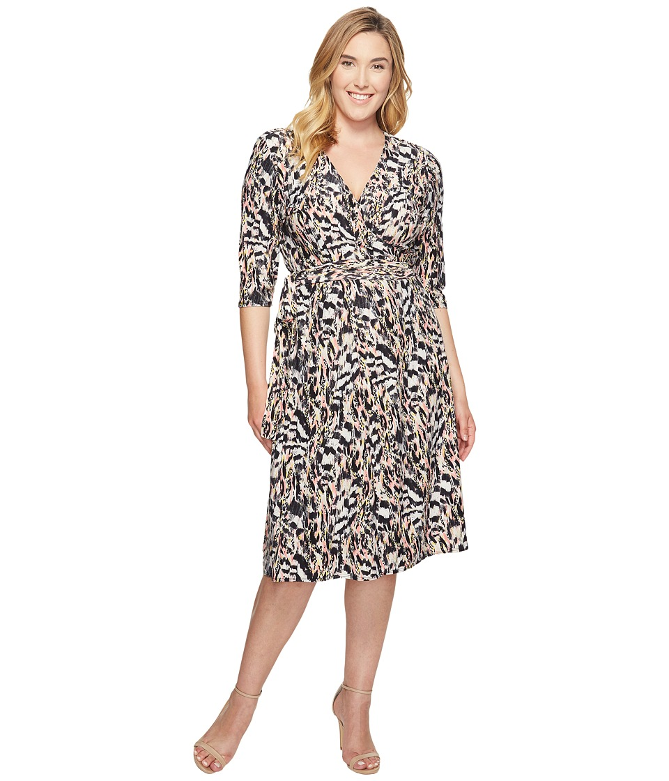 Kiyonna Essential Wrap Dress (Pink Safari) Women's Dress