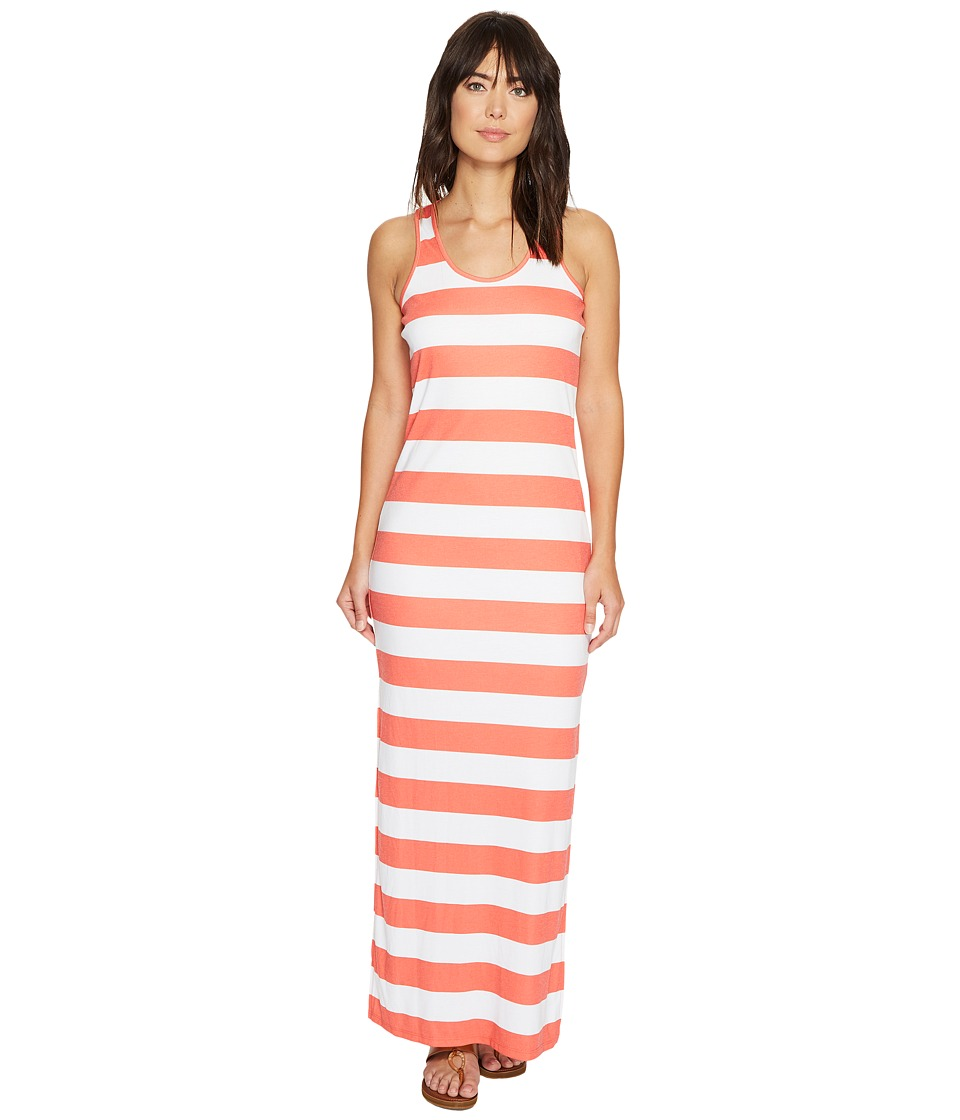 MICHAEL Michael Kors - Rugby Stripe Tank Maxi (Mandarin/White) Women's Dress