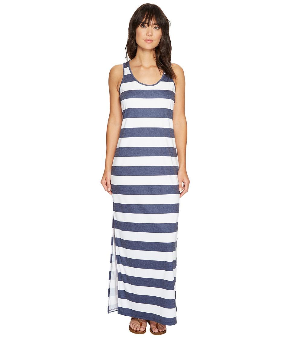 MICHAEL Michael Kors - Rugby Stripe Tank Maxi (True Navy/White) Women's Dress