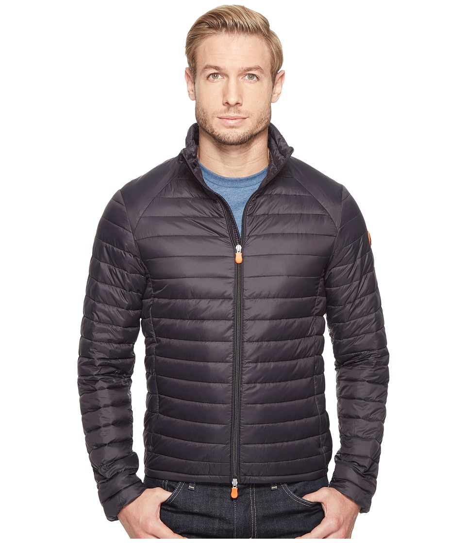Save the Duck - Non Hooded Basic Nylon Jacket (Black) Men's Coat