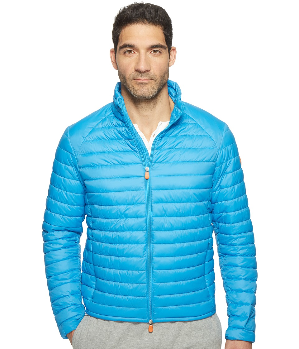 Save the Duck - Non Hooded Basic Nylon Jacket (Ocean) Men's Coat