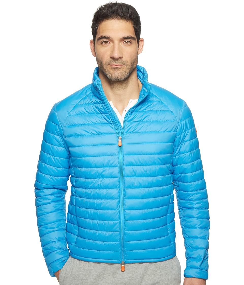 Save the Duck - Non Hooded Basic Nylon Jacket (Ocean) Men's Coat