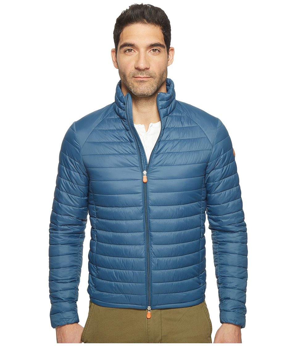 Save the Duck - Non Hooded Basic Nylon Jacket (Midnight) Men's Coat