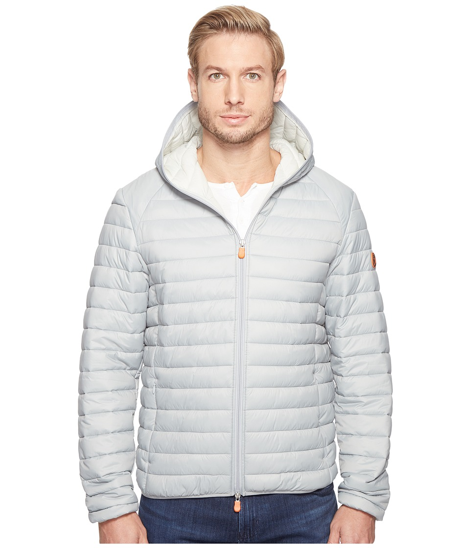Save the Duck - Hooded Basic Nylon Jacket (Opal Grey) Men's Coat