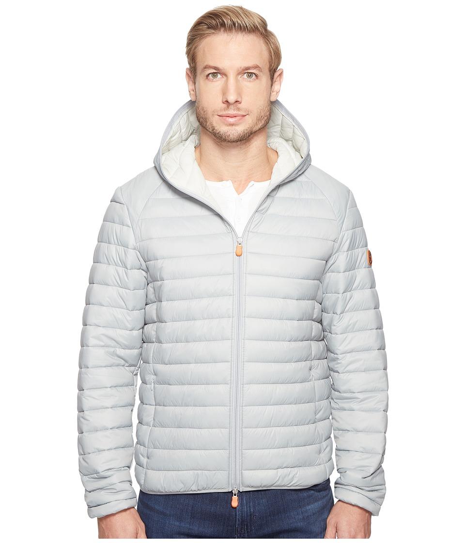 Save the Duck - Hooded Basic Nylon Jacket (Opal Grey) Men's Coat