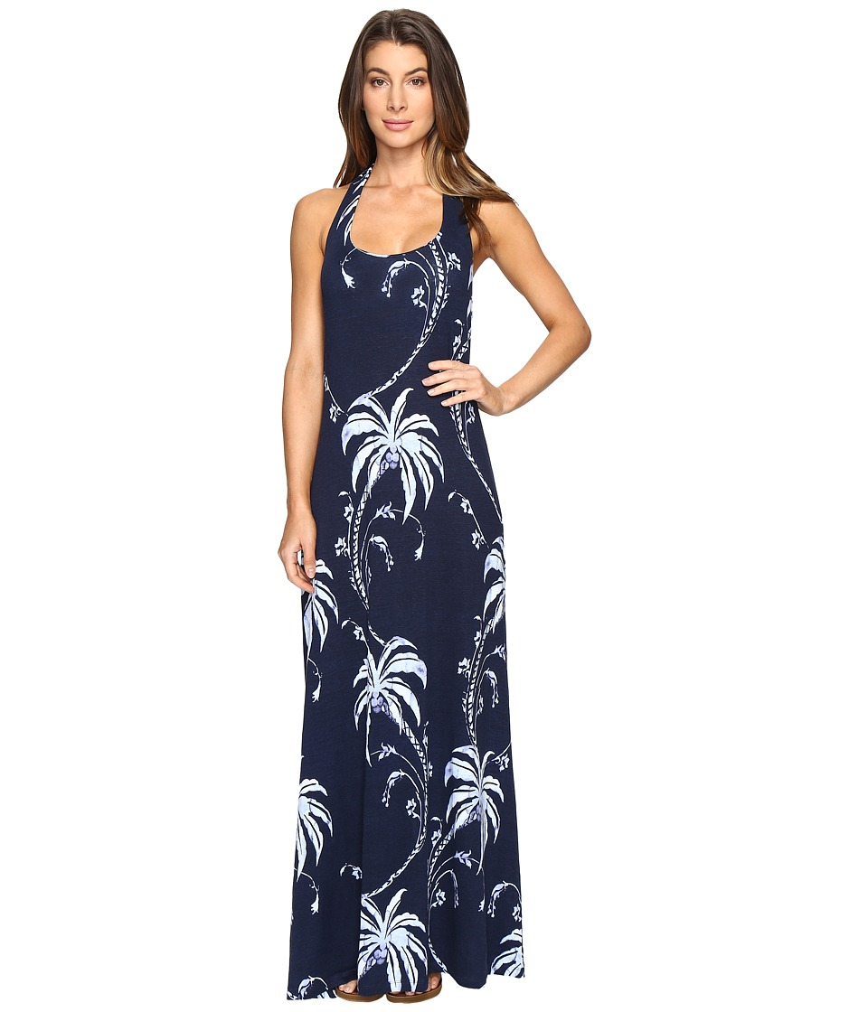 Tommy Bahama - Palm Tree Tropics Maxi Dress (Ocean Deep) Women's Dress