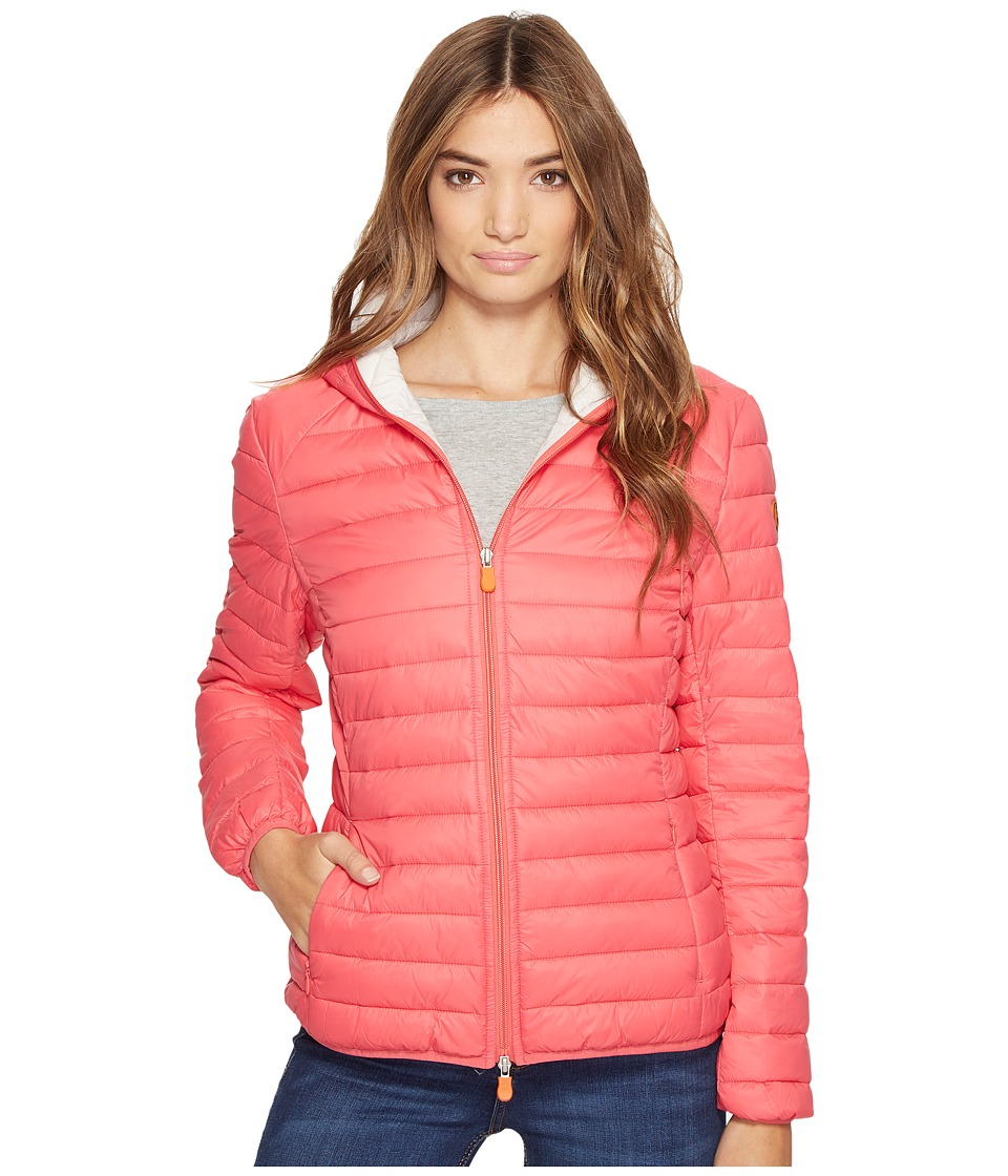 Save the Duck - Basic Hooded Nylon Jacket (Paradise Red) Women's Coat