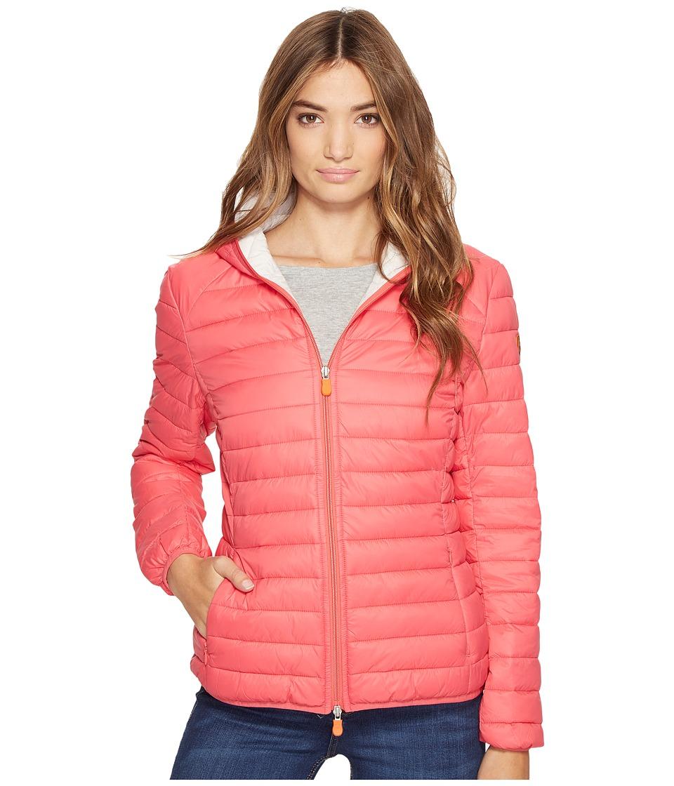 Save the Duck - Basic Hooded Nylon Jacket (Paradise Red) Women's Coat