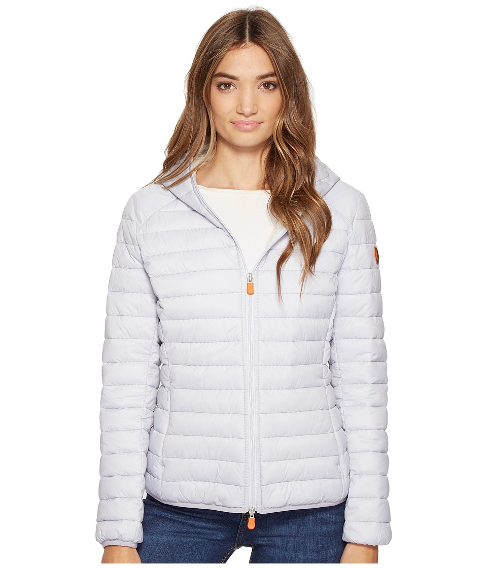 Save the Duck - Basic Hooded Nylon Jacket (Lavanda) Women's Coat