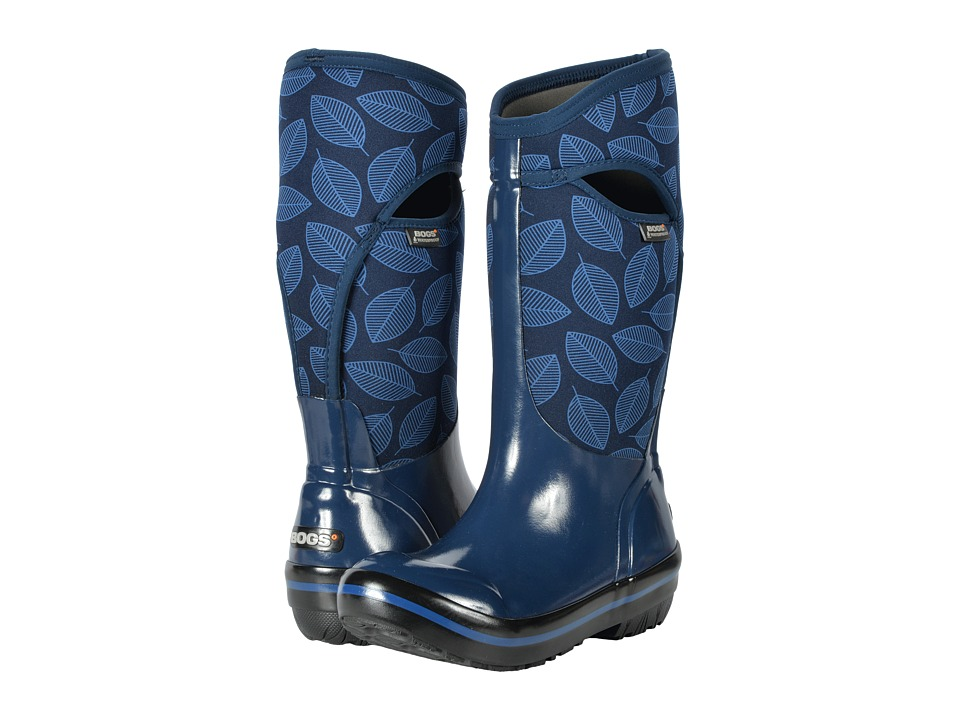 Bogs Plimsoll Leafy Tall (Dark Blue Multi) Women